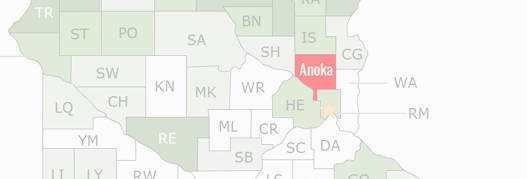 Anoka County Map