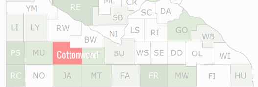 Cottonwood County Map