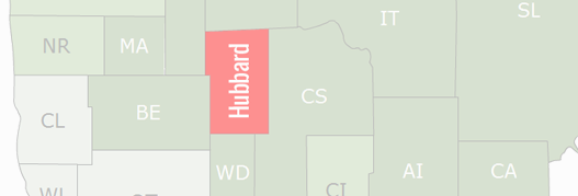 Hubbard County Map
