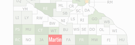 Martin County Map