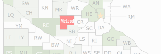 McLeod County Map