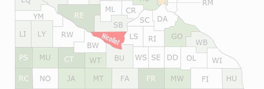 Nicollet County Map